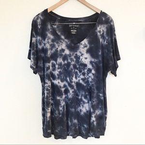AEO Soft & Sexy T tie dye blue/white sz Large